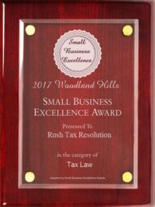 Rush Tax Resolution Business Excellence Award